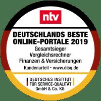 n-tv Gesamtsieger Vergleichsrechner Finanzen Versicherungen 2019