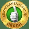 eKomi Siegel für positive Kundenbewertungen